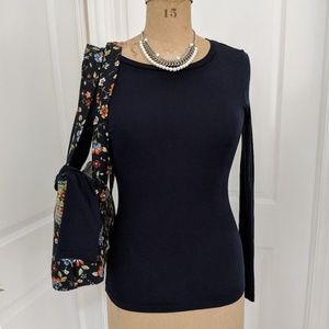 J. Crew Navy Fitted T-Shirt Size Medium